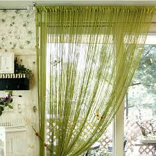 Green Sheer Curtains Bud Green Color Yarn Material Modern Sheer Curtain
