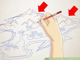 how to draw a map how to draw a map of an imaginary place 12 steps with pictures