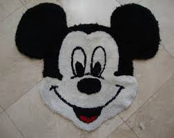 mickey mouse rug etsy