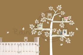 White Tree Wall Decal Nursery Classic Bedroom With White Tree Owls Combination Tree Wall Decal