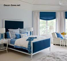 Two Tone Blue Bedroom Really Like The Roman Blind And The Two Tone Curtains Combined
