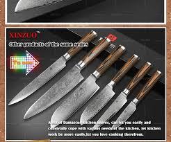 vg10 kitchen knives xinzuo 5 inches santoku knife japanese vg10 damascus kitchen