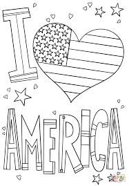 i love america coloring page free printable coloring pages