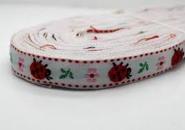 ladybug ribbon wholesale bulk lot embroidered ladybug ribbon for diy hair