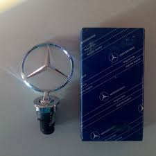 new original mercedes benz chrome hood star with base a 124 880