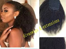 hair pony tail for african hair cheap afro ponytail extension buy quality afro drawstring