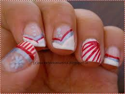 christmas nail art candy cane nails with tutorial
