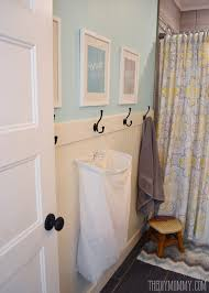 bathroom ideas with beadboard how to install an easy diy beadboard hook wall in a bathroom it s