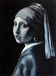 painting the girl with the pearl earring saatchi girl with the pearl earring painting by jc amorrortu