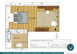 dans chambre chambre avec salle de bain 15m2 plan suite parentale avec salle bain