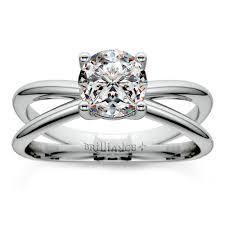 palladium engagement rings cross split shank solitaire engagement ring in palladium