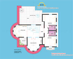 2761 sq feet semi circular shaped villa kerala home design and