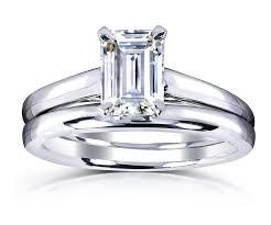 moissanite bridal reviews emerald cut moissanite engagement rings the moissanite