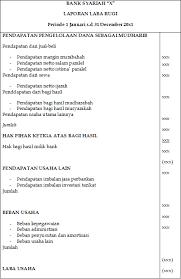 cara membuat laporan laba rugi komersial format laporan laba rugi bank syariah akuntansi keuangan