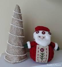 make burlap christmas tree christmas lights decoration