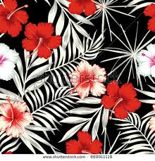 beach cheerful seamless pattern wallpaper tropical stock vector