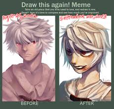 Cate Meme - before and after meme for the third time xd by p cate on deviantart