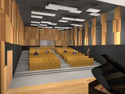 acoustic design of an audiovisual amphitheatre people are sound
