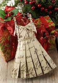 paper dress ornament hang ornament