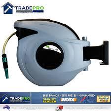 best wall mounted hose reel retractable auto rewind water hose reel 30m greenleaf pro garden