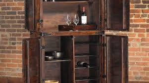 Glass Door Bar Cabinet Bar Chestnut Wooden Small Liquor Cabinet Square Glass Top