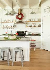 Kitchen Wall Sconce Single Wall Open Kitchen Contemporary With Wood Floor Red And