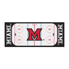 Football Area Rugs by Ncaa Miami University White 2 Ft 6 In X 6 Ft Indoor Hockey