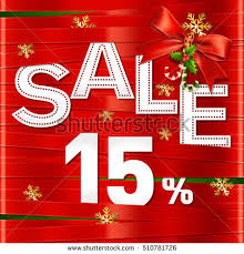 ribbons for sale christmas happy new year sale fifteen stock photo photo vector