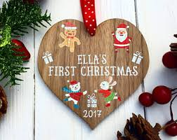 Personalised Christmas Decorations In Bulk by Baby First Christmas Etsy