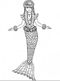 free printable mermaid coloring pages kids 26566