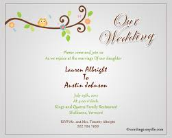 wedding invitations messages informal wedding invitation wording sles wordings and messages