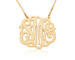 gold monogrammed necklace gold monogram necklace jewelry