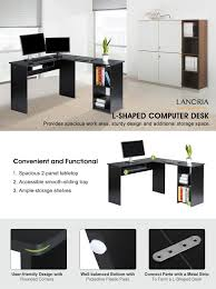 L Shaped Computer Desk Amazon by Amazon Com Langria Modern L Shaped Computer Desk Corner Pc Latop