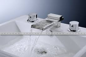 Waterfall Bath Faucets Decoration In Waterfall Bathroom Faucet Newwall Mount Basin