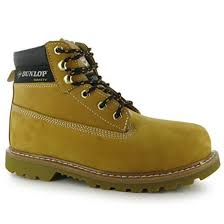 dunlop mens nevada steel toe cap lace up work safety shoes boots