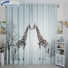 Plum Flower Curtains Compare Prices On Fabric Giraffe Online Shopping Buy Low Price