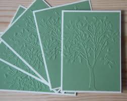 embossed card set etsy