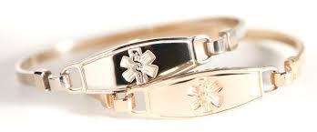 medical id bracelets for women gold bracelet 14k bracelet gold id man