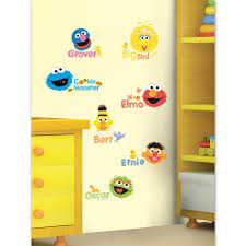wall decal decorate kids room with sesame street wall decals