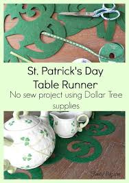 st patrick s day table runner st patrick s day table runner a no sew project that will brighten