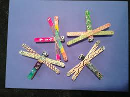 dragonfly swaps for camporee made by a scout brownie