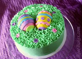 Decorating Easter Eggs With Royal Icing by Easter Eggs In The Grass Cake