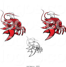 royalty free vector of chef lobster logos by vector tradition sm