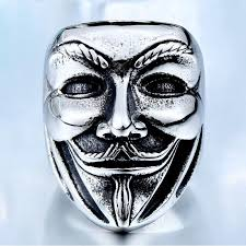 beier 2017 new v for vendetta stainless steel jewerly wholesale
