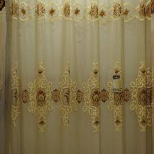 embroidered sheer voile curtain fabric embroidered sheer voile