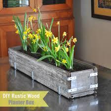 diy planter box diy rustic wood planter box make life lovely
