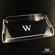 personalized tray personalized serving tray with engraved monogram or message