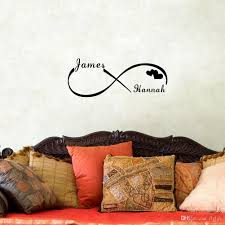 custom personalized couple name creative infinity symbol wall custom personalized couple name creative infinity symbol wall stickers vinyl decals art for bedroom decoration wall stickers decoration wall stickers