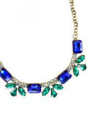 blue necklace images Tranquility statement necklace in royal blue happiness boutique jpg