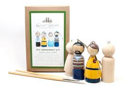 diy wooden ornament peg doll craft kit make your own